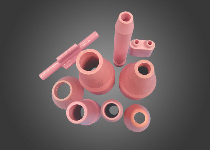Pink Alumina Ceramic Tig Welding Cooling Nozzle In Welding Torches For Sand Blasting Gun